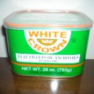 anchovies 28 oz cans in soy bean oil. 24 per case. $252.99