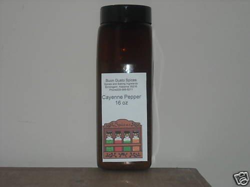 Cayenne Pepper 16 oz jar $11.99--spices seasonings & herbs