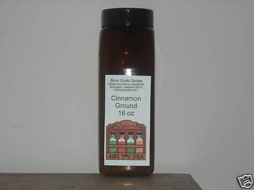 cinnamon ground 16 oz jar  $11.99--spices seasonings & herbs