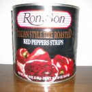roasterd red peppers strips 3 kl cans 2 per case  $28.95