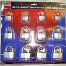12 Pcs 30, 40 & 50 mm Laminated Padlock