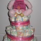Girl's Piglet/Pooh Size 2 Diaper Cake