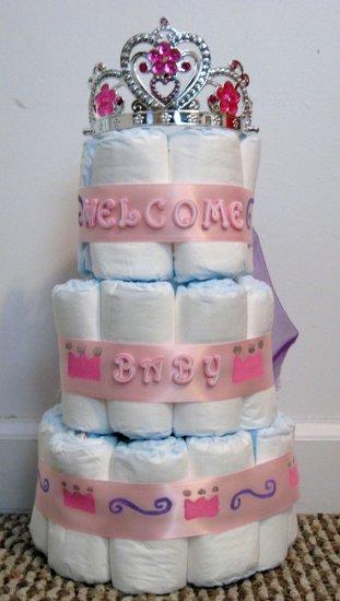 Girl's Princess Size 1 Diaper Cake