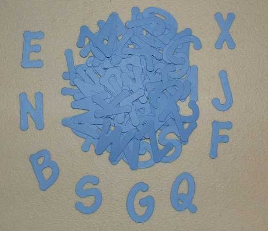 Scrapbooking Sizzix Lollipop Alphabet - Primary Blue