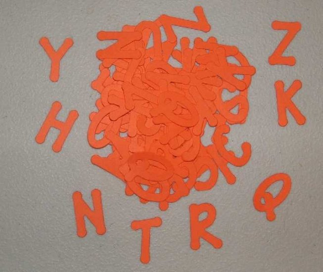 Scrapbooking Sizzix Lollipop Alphabet  - Primary Orange
