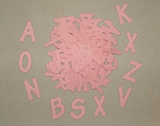 Scrapbooking Sizzix Lollipop Alphabet - Pink