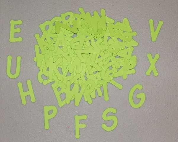 Scrapbooking Sizzix Lollipop Alphabet - Bright Green