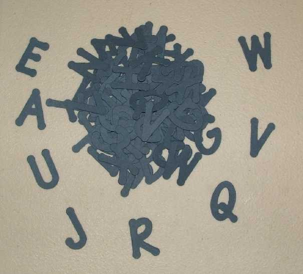 Scrapbooking Sizzix Lollipop Alphabet - Navy Blue