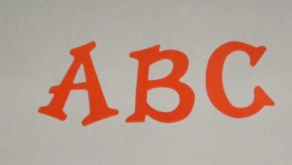 Scrapbooking Sizzix Fun Serif Alphabet - Orange