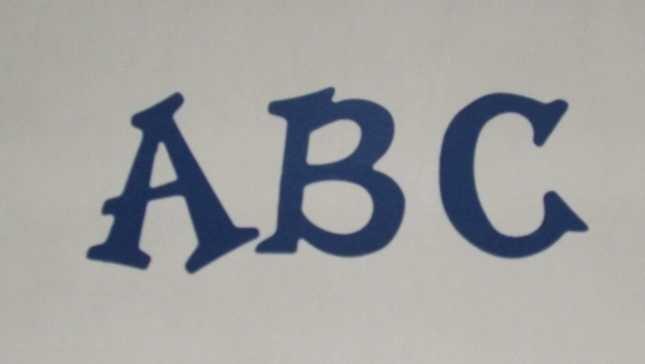 Scrapbooking Sizzix Fun Serif Alphabet - Primary Blue