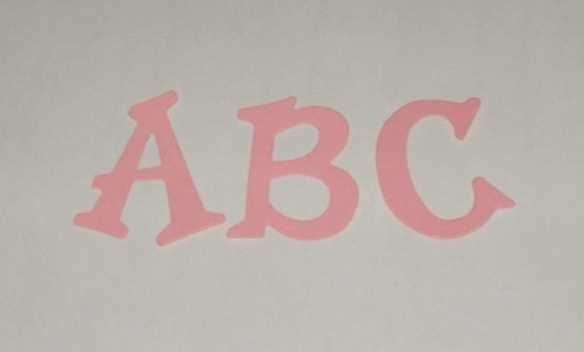 Scrapbooking Sizzix Fun Serif Alphabet - Pink