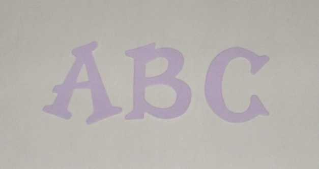 Scrapbooking Sizzix Fun Serif Alphabet - Lavender