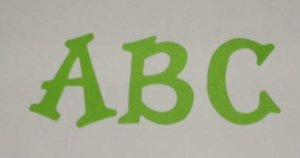 Scrapbooking Sizzix Fun Serif Alphabet - Bright Green