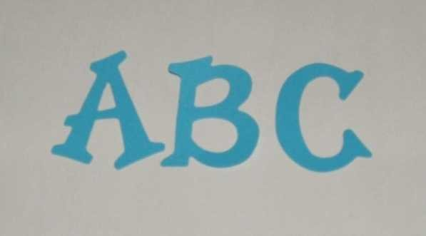Scrapbooking Sizzix Fun Serif Alphabet - Bright Blue