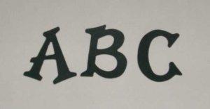 Scrapbooking Sizzix Fun Serif Alphabet - Hunter Green