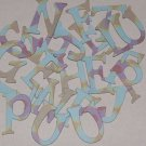 Scrapbooking Chipboard Fun Serif Alphabet - Bejeweled