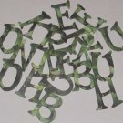 Scrapbooking Chipboard Fun Serif  Alphabet - Ivy
