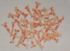 Scrapbooking Chipboard Fun Serif Alphabet - Peach Polka Dots