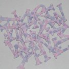 Scrapbooking Chipboard Fun Serif Alphabet - Purple Polka Dots