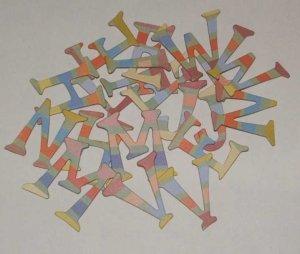 Scrapbooking Chipboard Fun Serif Alphabet - Bold Stripes