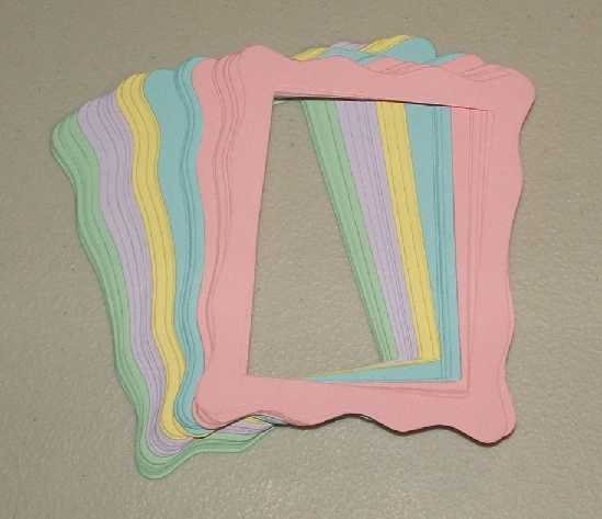 Scrapbooking Sizzix Jelly Frames - Pastel Colors