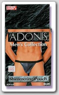 ADONIS SHIMMER POUCH -  BLUE