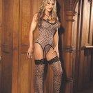 3 Pc Leopard Bustier Set