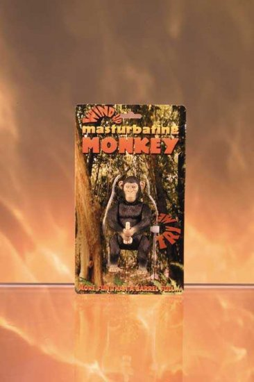 MASTURBATING MONKEY- Wind Up Adult Toy