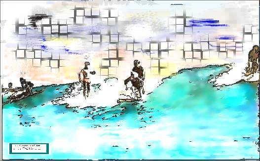 Digital old man surf