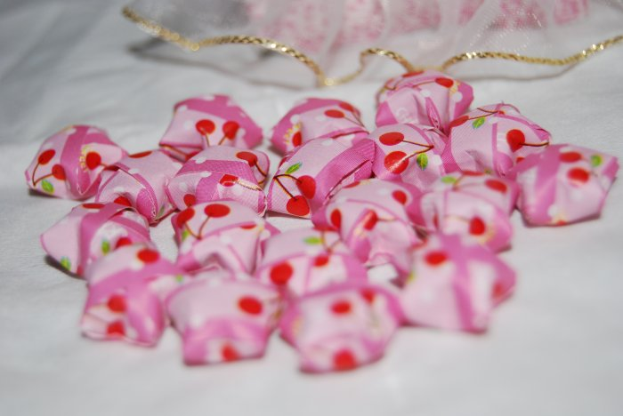 Cherry patterned pink stars