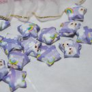 Lamb and rainbow patterned purple stars