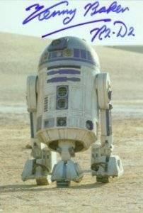 Signed R2-D2 Postcard