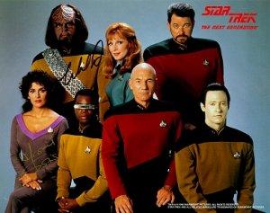 Autographed Star Trek Next Generation Photo