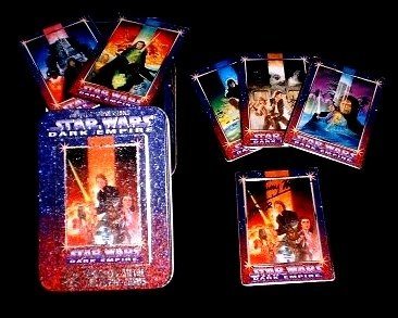 Autographed STAR WARS Metal Trading Card Set