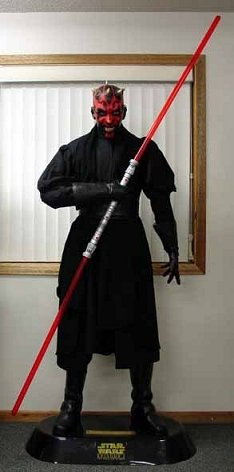 MINT CONDITION Life Size DARTH MAUL Mannequin