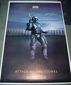 STAR WARS Bus Shelter Poster JANGO FETT