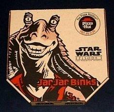 MINT CONDITION Star Wars Pizza Hut JAR JAR BINKS pizza box. Unused