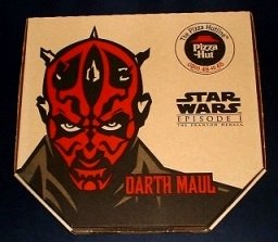 MINT CONDITION Star Wars Pizza Hut DARTH MAUL pizza box