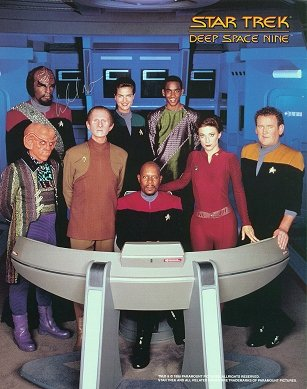 Autographed STAR TREK  10 x 8 DEEP SPACE NINE photo