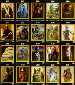 STAR WARS KFC Trading Cards. United Kingdom 20 card set.
