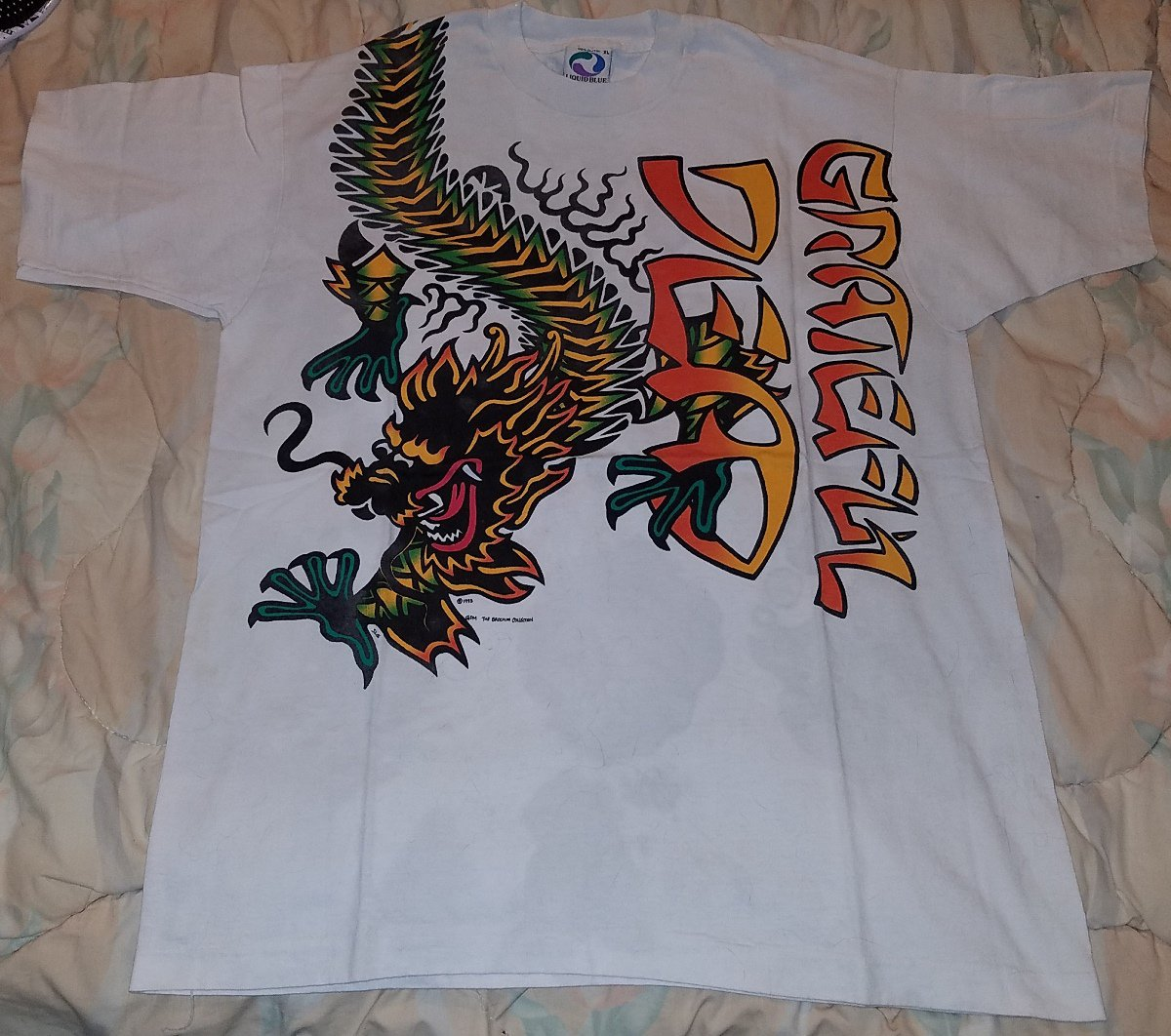 73e0dced415 GRATEFUL DEAD 1993 CHINESE NEW YEAR CONCERT TOUR T-SHIRT XL VINTAGE