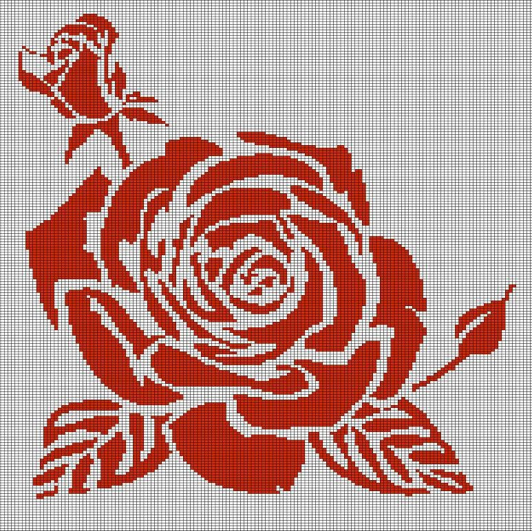 Roses Crochet Afghan Pattern Graph