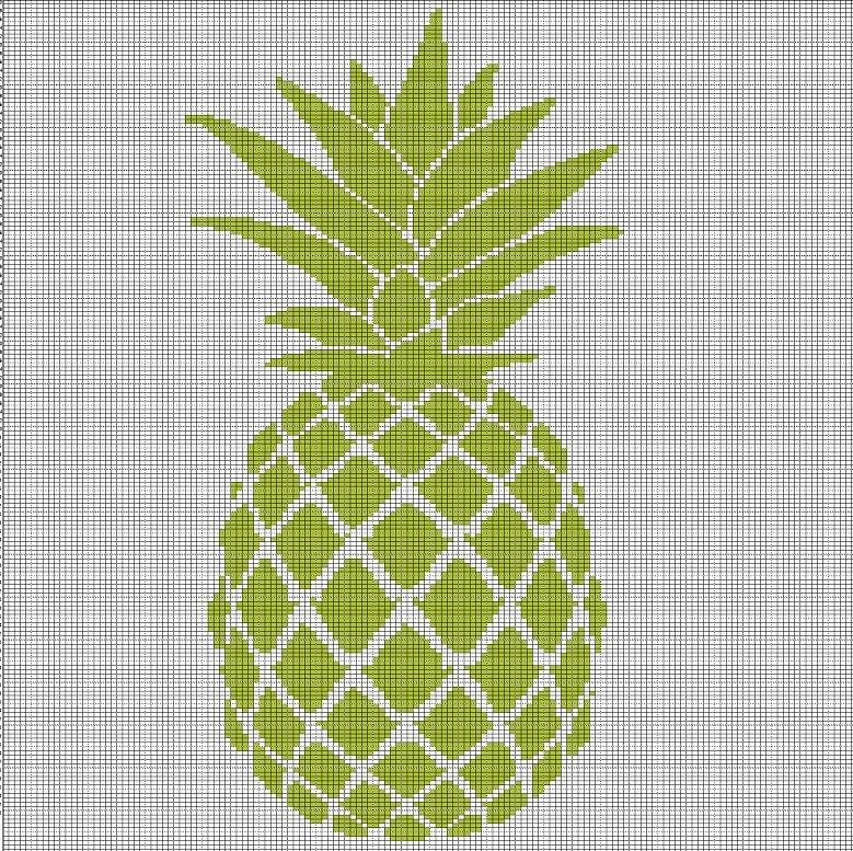 Pineapple Crochet Afghan Pattern Graph