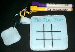Tic-Tac-Toe Machine Embroidery Design