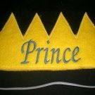 Prince or King Crown Machine Embroidery Design