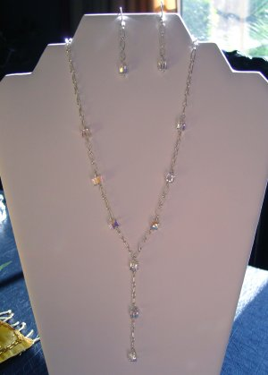Crystal Y Necklace