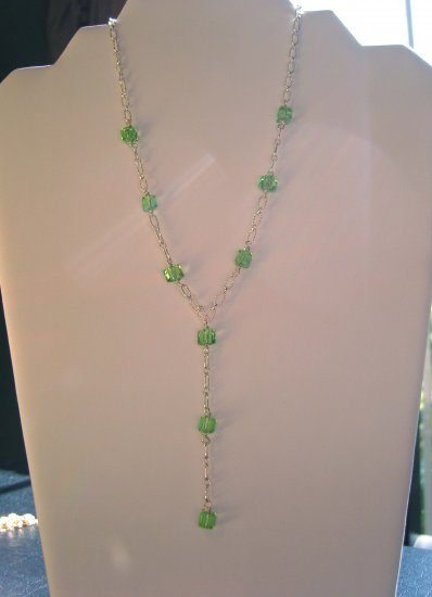 Peridot Y Necklace