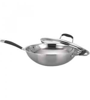 Stainless Steel Wok with Lid    SK-7362