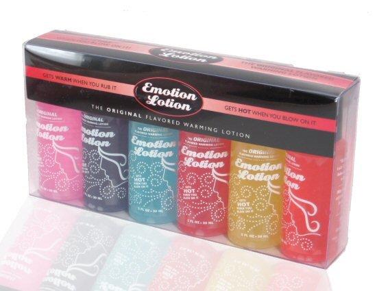 Emotion Lotion Flavored Warming Massage Oil / Lubricant 6 Flavor Sample Pack