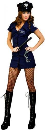 4 Piece Police Uniform Costume Dress